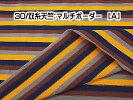 ニット生地30/双糸天竺:マルチボーダー(A)
