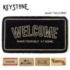 キーストーン【KEYSTONE】ウェルカムコイヤーマット玄関マットWELCOMEMATナチュラルカフェ風おしゃれ【あす楽】アンソロポロジー風