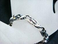 【売れ筋の大人気】メンズデザインブレスレット純銀/Silver925No164a