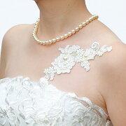 ブライダルボディジュエリーシールエレガントレース仕様白ホワイト花