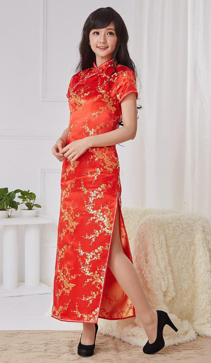 チャイナドレス5サイズ有り半袖ロング半袖ショート袖無しロングa01