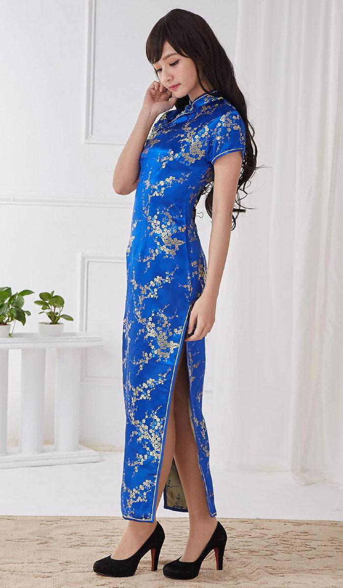 チャイナドレス5サイズ有り半袖ロング半袖ショート袖無しロングa08