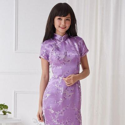 チャイナドレス 5サイズ有り 半袖ロング 半袖ショート 袖無しロング a14コスプレ♪コスチ...