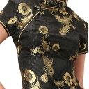 チャイナ服 チャイナドレス 5サイズ有り 半袖ロング 半袖ショート 袖無しロング b02ゴスロ...