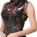 チャイナ服 チャイナドレス 5サイズ有り 半袖ロング 半袖ショート 袖無しロング b07ゴスロ...