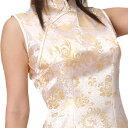 チャイナ服 チャイナドレス 5サイズ有り 半袖ロング 半袖ショート 袖無しロング c03ゴスロ...