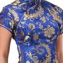 チャイナ服 チャイナドレス 5サイズ有り 半袖ロング 半袖ショート 袖無しロング c08ゴスロ...