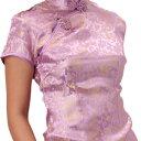 チャイナ服 チャイナドレス 5サイズ有り 半袖ロング 半袖ショート 袖無しロング d02ゴスロ...