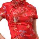 チャイナ服 チャイナドレス 5サイズ有り 半袖ロング 半袖ショート 袖無しロングf01ゴスロリ...