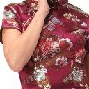 チャイナ服 チャイナドレス 5サイズ有り 半袖ロング 半袖ショート 袖無しロング f02ゴスロ...