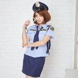 ハロウィン コスプレ ポリス 6点セット M〜4Lサイズあり 警察 警官 婦警 制服 コスチューム一式 セクシー こすぷれ はろういん costume723 衣装