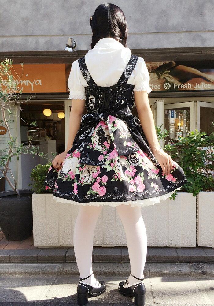 カメオ柄ジャンパースカートL567