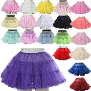 ポイント10倍 コスプレ衣装 パニエ ボリューム 大人 大きいサイズ M 2L 4L スカート チュール パーティードレス コスチューム 全20色展開 衣装