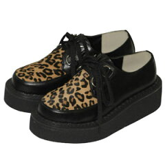 いつでも人気の豹柄ラバーソール shoes112 ゴスロリ♪ロリータ♪パンク♪コスプレ♪コスチュー...