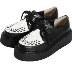 メッシュラバーソール黒*白 shoes114 ゴスロリ♪ロリータ♪パンク♪コスプレ♪コスチューム♪メ...
