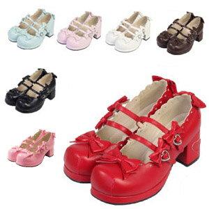 ハートヒールパンプス shoes192 ゴスロリ ロリータ コスプレ