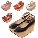 ハードロッカーハイフラットシューズ ブーツ パンプス 靴 シューズ コスプレ 22.5〜27.0サイズあり 5色展開 shoes263