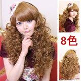 ウイッグ フルウィッグ 耐熱 wig カラー展開 ゆるふわ ロング カール コスプレ w056
