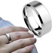 シンプルつや消しBrushed選べるリング幅ステンレスリング指輪メンズレディースユニセックスステンレスアクセサリーノンアレルギー【BodyWell】