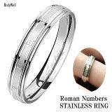 ローマ数字 ステンレス リング 指輪 メンズ レディース ステンレスアクセサリー ペアアクセサリー ペアリング 結婚 金属アレルギー対応