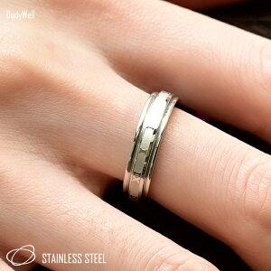 ローマ数字ステンレスリング指輪メンズレディースステンレスアクセサリーペアアクセサリーペアリング結婚金属アレルギー対応