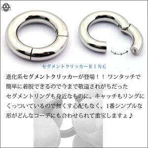 4Gコレなら簡単カチッと装着セグメントリングピアスクリッカーリングピアスボディピアス【BodyWell】