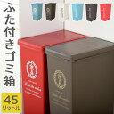 ふたつき ゴミ箱 45l トラッシュボックス キャスター フタ付き ダストボックス スライド式 キッチンごみ箱 日本製 台所 洗面所 ごみ箱 簡単 密閉 プラスチック ペール くず入れ 45リットル スリム 角型 オシャレゴミ箱 おしゃれ
