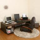 オフィスデスク 収納 木製デスク 机 パソコンデスク PCデスク パソコンラ...