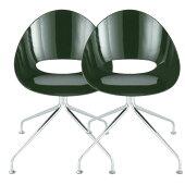 ダイニングチェアー2点セットサリウス★北欧インテリアモダン家具イス椅子いすパソコンチェアーダイニングチェアー2個組エッグチェアー送料無料送料込みホワイト白