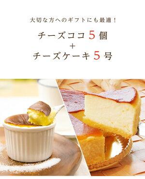 ふわとろチーズケーキ5号&あったか新食感チーズココ5個入り