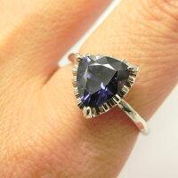 Pt950ブルースピネルリング2.25ctプラチナの指輪細い指輪華奢リング