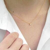 K22Twinkle一粒ダイヤモンドペンダント0.1ctアップVSダイヤ使用金属アレルギー対策