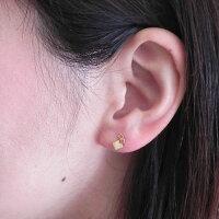 K22セカンドピアス[モザイク]軸の太さ0.8ミリK22セカンドピアス両耳セット販売金属アレルギー対策22金のピアス