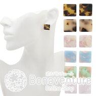 ボナバンチュール(Bonaventure)べっ甲風スクエアピアス