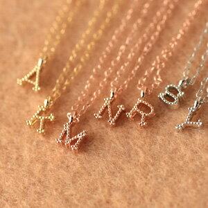 ニッケル ボナバンチュール Bonaventure イニシャル ネックレス アルファベット ペンダント チャーム ゴールド シルバー プレゼント