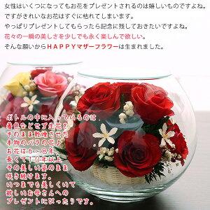 【送料無料】古希祝いプリザーブドフラワーよりも長持ち♪HAPPYマザーフラワー(大)【赤色・名入れ無し】薔薇花束バラ古希プレゼントお祝い古希祝い