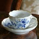 250年以上の伝統の香り1点1点丁寧に作り上げたマイセンのコーヒーカップ優しいブルーローズで癒...