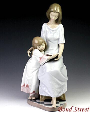 リヤドロ(Lladro リアドロ 陶器人形 置物) 母と子 お休み前のご本 #ldr-5457:食器&美容雑貨のボンドストリート