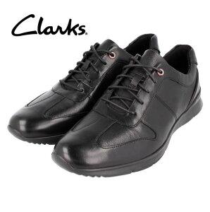 ★CLARKS クラークス 送料無料 200J レースアップ ブラック メンズ ビジネスシューズ カジュアル タウンユース ドレススニーカー メンズアウトレット