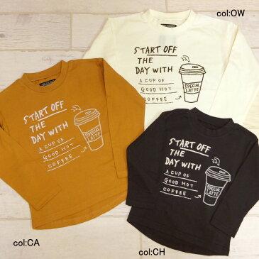【40%off SALE】【otonato オトナト】E406017☆ドロップTシャツ♪おしゃれなカフェ柄のTシャツ★パンツにもスカートにも合わせやすいシャツ^^【ベビー&キッズ服】140までメール便可