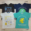 【50%off SALE】【Seraph セラフ】S307067☆プリントTシャツ♪トラベル#127775;地球とお荷物の旅行っぽい柄のきれいなお色のシャツ#128085;【ベビー&キッズ服】◎100までメール便可