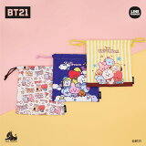 BT21 公式グッズ【モバイルポーチ】巾着 MOBILE POUCH