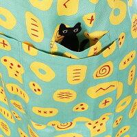 アツコマタノおはようエプロンまたのあつこ水玉ATSUKOMATANOMEME黒猫ピンクグリーンブルー