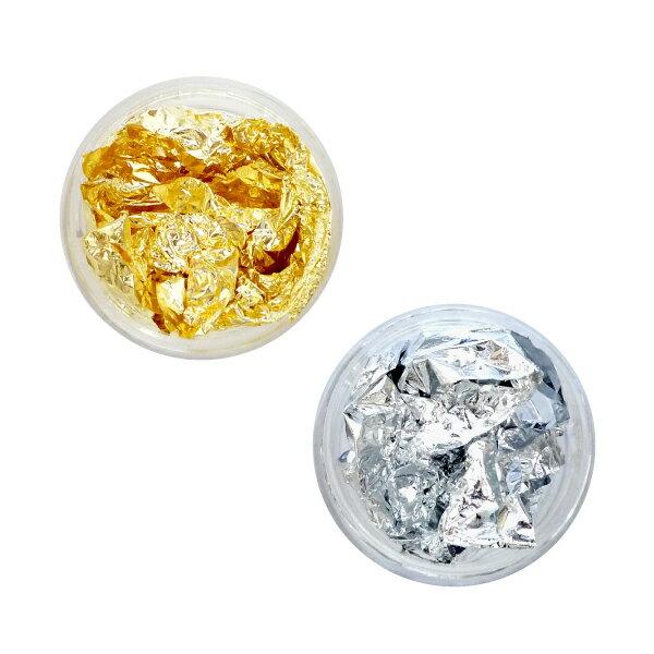 金箔・銀箔 ゴールド・シルバー箔 ラメとは違うゴージャス感・エレガント感がアップ@ネイル素材 _a0024