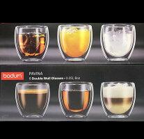 BODUMボダムBODUMCANTEENダブルウォールグラス250ml(6個セット)電子レンジOK断熱保温保冷タンブラーパヴィーナ