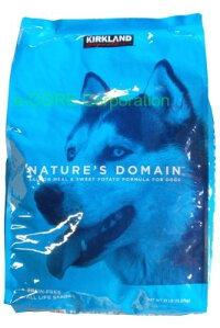 コストコKIRKLANDカークランドシグネチャードッグフードネイチャーズドメイン成犬用サーモンアンドポテト15.87kg