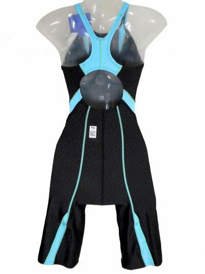 SPEEDO(スピード)レディース競泳水着FINA承認ウイメンズセミオープンバックニースキン(ライトアドリアティック)★Mサイズ[SD47H041(LA)]【水泳水着】競泳用水着女性用ハーフスパッツレッグスーツハーフスーツマスターズ