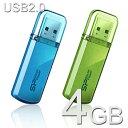 USBメモリー 4GB Herios 101 USB2.0【送料無料/メール便】シリコンパワー SP004GBUF2101V1USBフラッシュ USBメモリ USBフラッシュメモリー