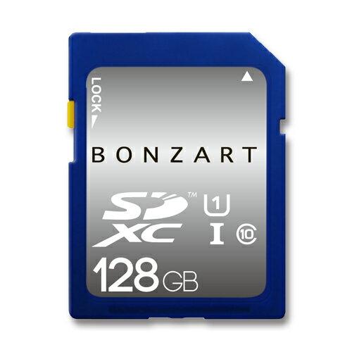 SDカード 128GB CLASS10 UHS-1BONZRT SDXC 128ギガ クラス10 UHS-1永久保証付き 高速 大容量 デジ...