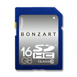 SDカード 16GB CLASS10BONZRT SDHC 16ギガ クラス10永久保証付き